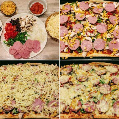апетитна домашна пица