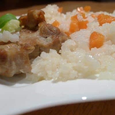 Свинско с ориз на фурна