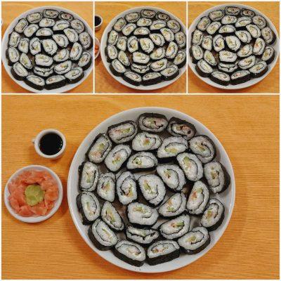 суши с риба тон и краставица