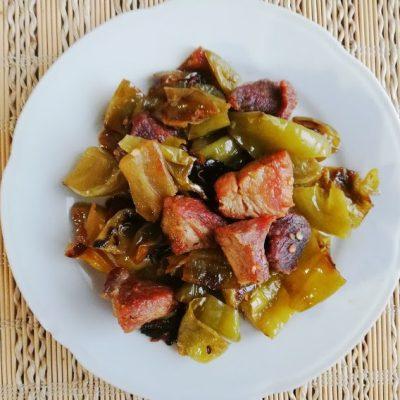 Пържено свинско месо със сурова туршия